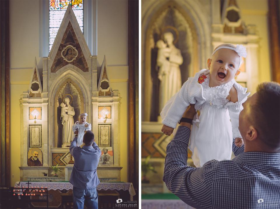 Tata i dziecko przed Chrztem. Reportaż z Chrztu w Warszawie. Fotograf na Chrzest Warszawa.