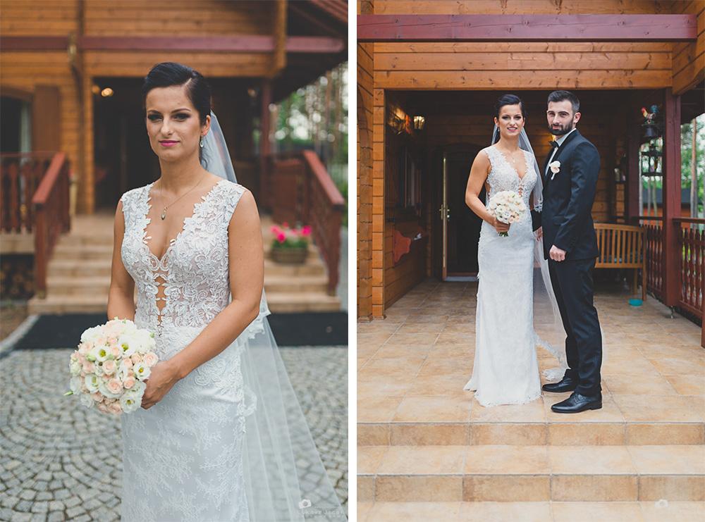 Fotografia ślubna Otwock. Państwo młodzi w dniu ślubu.