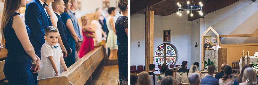 Zdjęcia ślubne w Otwocku. Kościół w Śródborowie.