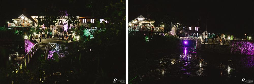 Rybaczówka nocą. Reportaż ślubny w Otwocku